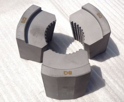 Serrated Lathe Chuck Jaws (Carburization & Laser Inscription) Made in China